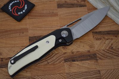 Liong Mah Designs GSD V2 - Titanium Flipper in Tuxedo Finish