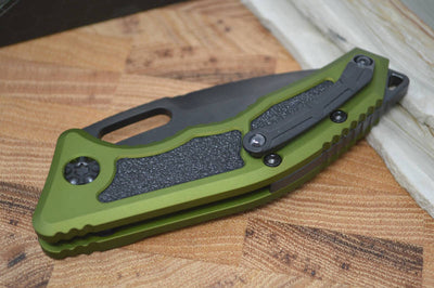 Heretic Knives Medusa Auto - Tanto DLC Blade / Green Handle - Northwest Knives