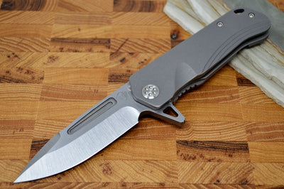 Medford Knife & Tool Proxima - Tumbled Titanium - Manual Folder