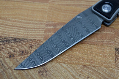 Chris Reeve Knives Mnandi Gentleman's Knife - Macassar Wood Inlay w/ Ladder Damascus (A1)