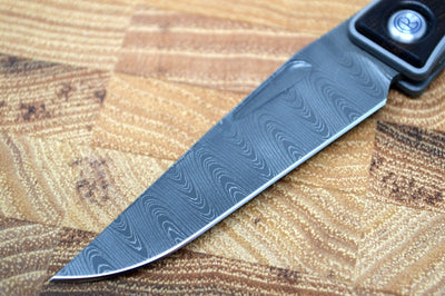 Chris Reeve Knives Mnandi Gentleman's Knife - Macassar Wood Inlay w/ Ladder Damascus (A2)