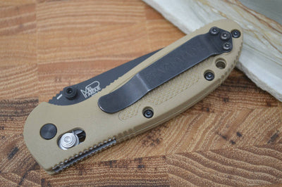 Benchmade 556BKSN-S30V Mini Griptilian - Black Blade / Sand Handle - Northwest Knives