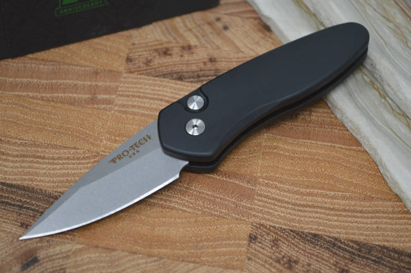 Pro Tech Sprint Auto - Black Handle - Stonewash S35VN Blade - Northwest Knives