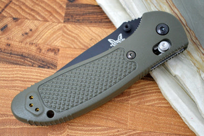 Benchmade 551SBKOD-S30V Griptilian - Black Combo Blade / OD Green Handle