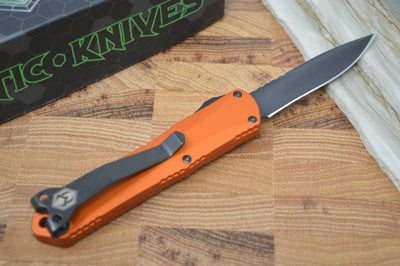 Heretic Knives Manticore S OTF - Orange Handle / Black DLC Recurve Blade