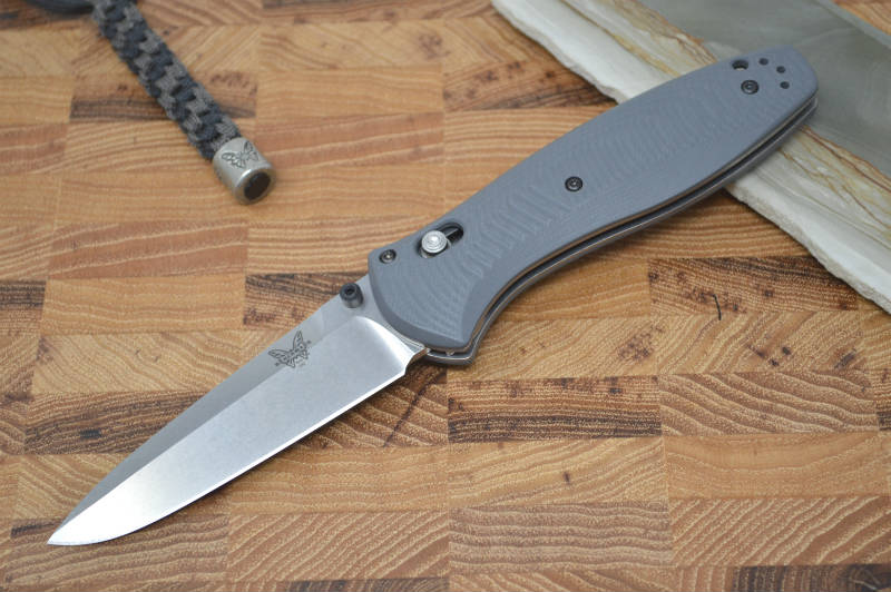 Benchmade 580-2 Barrage Assisted Open - Satin Blade / G-10 Grey Handle - Northwest Knives