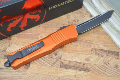 Microtech Combat Troodon OTF - Tanto Black Blade / Orange Handle - 144-1OR - Northwest Knives