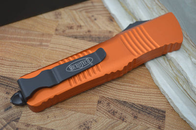 Microtech Combat Troodon OTF - Tanto Black Blade / Orange Handle - 144-1OR