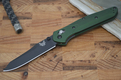 Benchmade 940BK Osborne - Black Blade / Green Handle - Northwest Knives