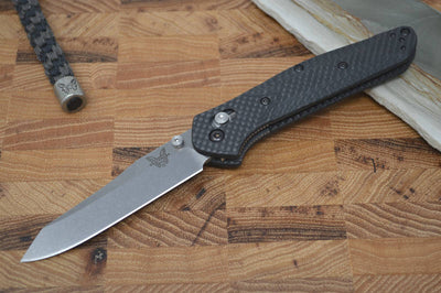 Benchmade 940-1 Osborne - Satin Blade / Black Carbon Fiber Handle