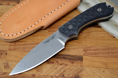 Bradford Knives Guardian3 - Textured Black G10 Handle / M390 Blade / Sabre Grind