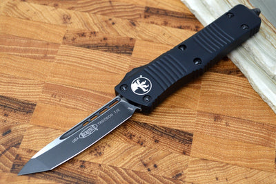 Microtech Troodon OTF Tactical - Tanto Style / Black Blade / Black Handle - 140-1T