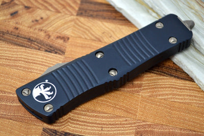 Microtech Troodon OTF - Double Edge / Bronze Apocalyptic Blade / Black Handle - 138-13AP