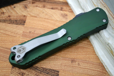 Heretic Knives Manticore E OTF - Battleworn Recurve Blade / OD Green Handle