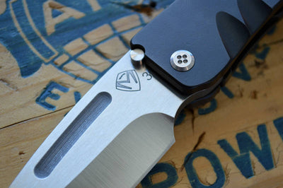 Medford Knife & Tool Midi Custom- Black PVD Handle / 3V Blade  - Manual Folder - Northwest Knives