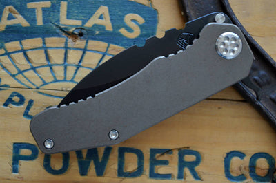 Medford Knife & Tool 187F - D2 Steel & Bronze Anodized Titanium - Flipper - Northwest Knives