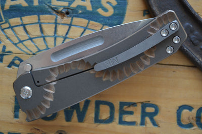 Medford Knife & Tool Midi Custom- Bronze Anodized Handle / S35VN Blade  - Manual Folder - Northwest Knives