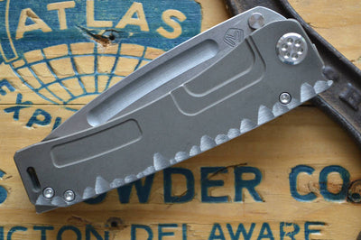 Medford Knife & Tool Marauder Custom- Bronze Anodized Sculpted Scales & S35VN Blade  - Manual Folder