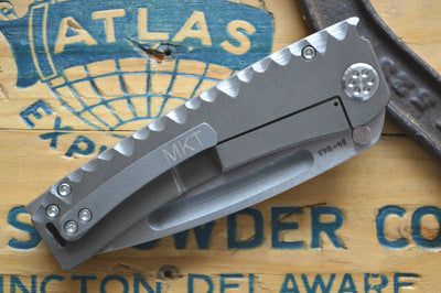 Medford Knife & Tool Marauder Custom- Bronze Anodized Sculpted Scales & S35VN Blade  - Manual Folder - Northwest Knives