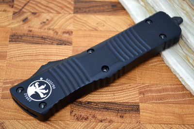 Microtech Combat Troodon Tactical OTF - Double Edge / Black Blade / Black Body & Hardware- 142-1T