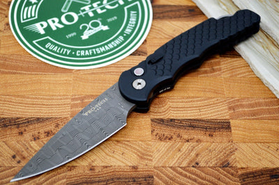 Pro Tech Tactical Response 5 Devin Thomas 2020 Custom - Black Fish Scale Handle / Basketweave Damascus #30of60