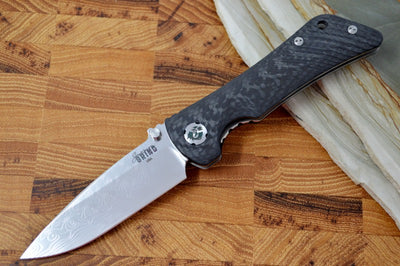 Southern Grind Spider Monkey - Black Carbon Fiber Handle / Damascus Blade