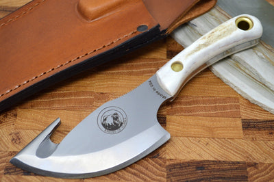 Knives of Alaska Light Hunter - D2 Steel / Stag Handle / Large Capacity Gut Hook 00011FG