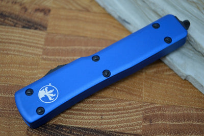 Microtech UTX-70 OTF - Blue Handle / Black T/E Blade - 149-1BL