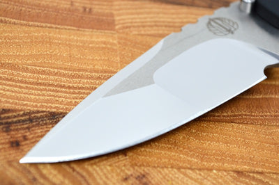 Pro Tech Strider SnG Custom - Black Micarta Handle / Mirror Polished Compound Grind #47 of 100