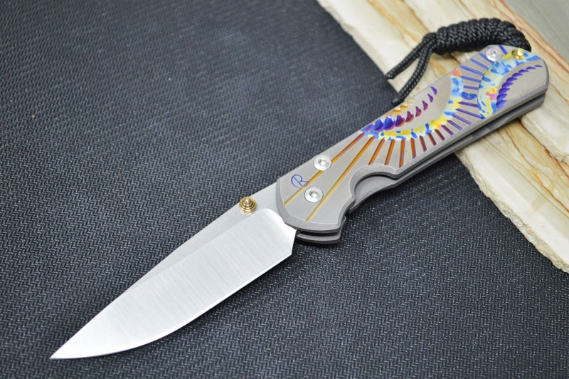 "Chris Reeve Knives Small Sebenza 31 - Unique Graphics ""Ray of Sun"" / CPM-S35VN Blade"