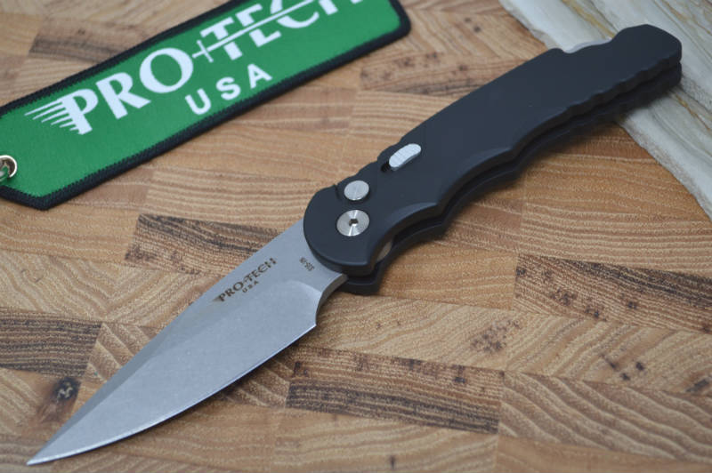 Pro Tech Tactical Response 5 Auto - Stonewash Blade / Black Handle