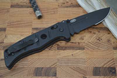 Benchmade 275SBK Adamas - Black Combo Blade / Black Handle - Northwest Knives