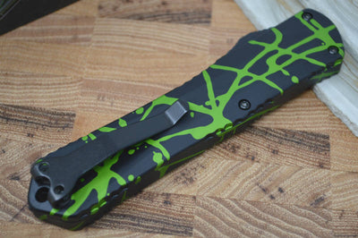 Heretic Knives Manticore X OTF - Green Splash / Black DLC Blade