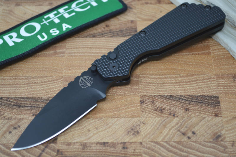 Pro Tech Strider PT Auto - Black Handle w/ Super Grip Knurl