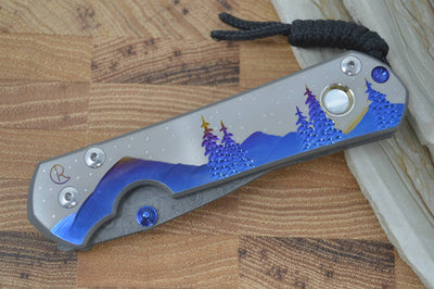 "Chris Reeve Knives Large Sebenza 21 - Unique Graphics ""Night Sky"" w/ Raindrop Damascus - Northwest Knives"