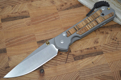 Chris Reeve Knives Large Sebenza 21 - Spalted Beech Wood Inlays - Northwest Knives