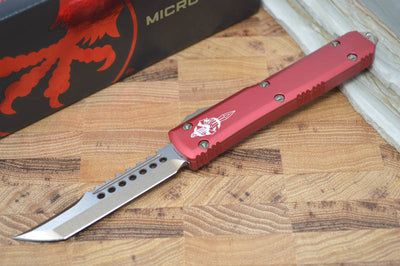 Microtech Ultratech OTF - Bronzed Hellhound Blade / Red Handle 119-13RD - Northwest Knives