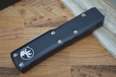 Microtech UTX-85 OTF - Double Edge / Satin Blade / Black Body - 232-4