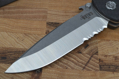 Southern Grind Bad Monkey Emerson - Satin Partial Serrated Blade / CF Handle