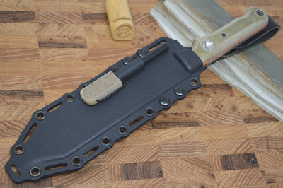 "White River Knives 7"" Firecraft - Kydex Sheath & Micarta Handle"