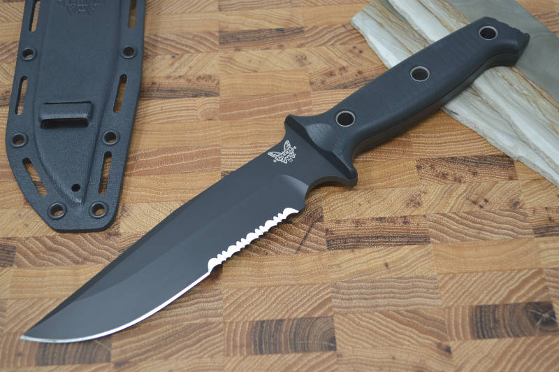 Benchmade 119SBK Arvensis - Fixed Combo Blade - Northwest Knives