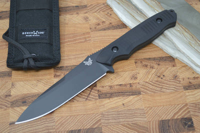 Benchmade 140BK Nimravus - Black Fixed Blade / Black Handle - Northwest Knives