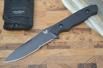 Benchmade 140SBK Nimravus - Black Combo Fixed Blade / Black Handle - Northwest Knives