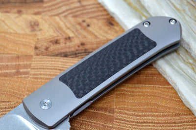 Ohlone Knives GOAT - Satin M390 Blade / Black Twill Carbon Fiber Handle