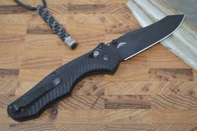 Benchmade 810BK Contego - Black Coated M4 Blade / Black Handle