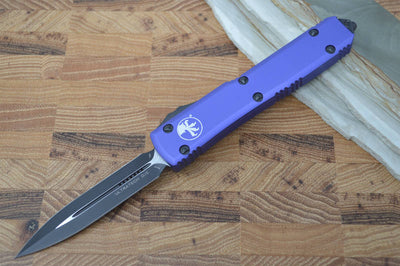 Microtech Ultratech OTF - Double Edge / Black Blade / Purple-122-1PU - Northwest Knives