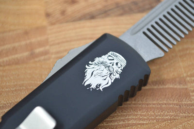 Marfione Custom Tactical Beard Comb OTF w/ The Real McCoy Beard Oil - Northwest Knives