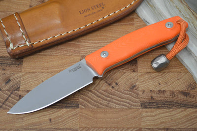 Lionsteel M1 Hunting Knife w/ Orange G-10 Handle - Fixed Blade - Northwest Knives