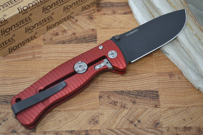 Lionsteel SR2A-RB Aluminum Red Handle / Black Blade - Northwest Knives