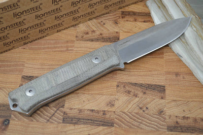 Lionsteel B40 Micarta Green Handle - Fixed Blade - Northwest Knives